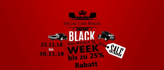 Black Week %SALE% 7 Cars – 7 Days